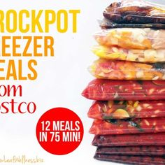 Crockpot freezer meals from Costco (12 meals in 75 minutes!)