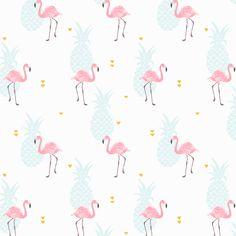 Pink flamingo fabric by innamoreva on Spoonflower - custom fabric
