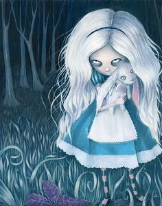 Elin Jonsson - Dark Fantasy - Fashion - Gothic - Couture - Alice In Wonderland - Alice - White Rabbit - Art - Illustration - Stories Dark Alice In Wonderland, Alice In Wonderland Drawings, Adventures In Wonderland, Lewis Carroll, Alice Liddell, Alice Sweet Alice, Alice White, Arte Grunge, Chesire Cat