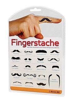 Finger Moustache Tattoos