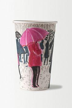 Gwyneth Leech Original Paper Artwork Cup #anthropologie
