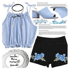 """""""Delicate Blue"""" by pastelneon ❤ liked on Polyvore"""
