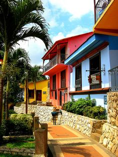 Las Peñas, Guayaquil. Lovely, colorful hilltop neighborhood. The view from the top is worth the climb!