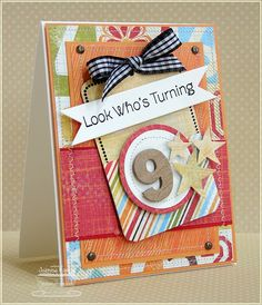 Love this number card...cute!