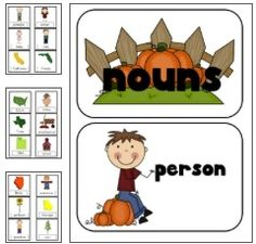 Sort all those people, places and things with this FREE Fall themed Noun Sort. Your Kindergarten, and graders will have a lot of fun with this FREEBIE! Kindergarten Language Arts, Classroom Language, Kindergarten Literacy, Language Activities, Literacy Activities, Literacy Centers, Preschool, Teaching Reading, Teaching Ideas