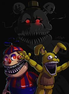 FNAF 4 - nightmare by LadyFiszi on DeviantArt