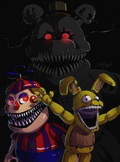 FNAF 4 - nightmare by LadyFiszi on DeviantArt