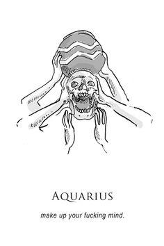 O horóscopo representado por ilustrações bem sombrias