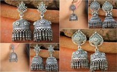 ✯ Mughal Sterling Silver Ghungroo Jhumka ✯