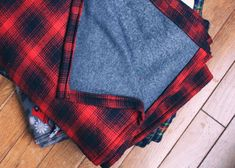 DIY Flannel Throw A perfect gift to get someone you love through the winter