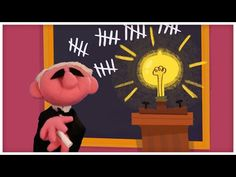"""▶ Great Innovators: """"Thomas Edison and the Light Bulb,"""" by StoryBots - YouTube Science Videos, Science Fair, Thomas Edison Light Bulb, Edison Inventions, Thomas Alva Edison, Up Teacher, First Grade Science, Five In A Row, Educational Games For Kids"""