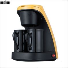 Drip Coffee Maker Fully-Automatic Cafe American Coffee Machine Double Cups Home Use Coffee Maker