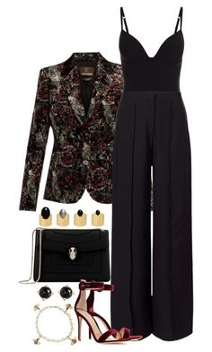 """Untitled #1066"" by manoella-f on Polyvore featuring Roberto Cavalli, Miss Selfridge, Bulgari, Gianvito Rossi, Irene Neuwirth, Cartier and Ela Stone"