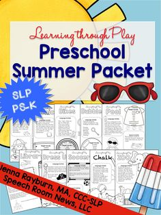 Learning Through Play: Preschool Summer Packet
