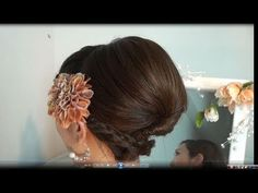 Party Hair tutorial. Made me cringe at her teasing and hair-spraying, but looks pretty at the end.
