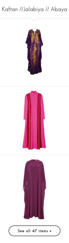 """// Kaftan //Jalabiya // Abaya //"" by mermaiden ❤ liked on Polyvore featuring dresses, gowns, maxi dress, tumblr, tops, tunics, caftan tunic, pink tunic, kaftan tops and pink kaftan"