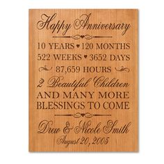 Gift Ideas For 10th Wedding Anniversary For Him : Personalized 10th anniversary gift for him,tenth anniversary gift for ...