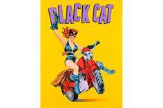Mel Ramos, Black Cat, 2015, 40 x 30 inches.