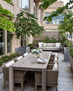 "Georgiana Design - ""Upper West Side Terrace I. - Georgiana Design – ""Upper West Side Terrace I. Terrace Design, Patio Design, Design Design, Design Ideas, Interior Design, Design Homes, Design Interiors, Plan Design, Modern Design"