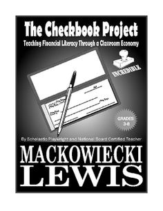The Checkbook Project classroom economy financial literacy. I have been looking for a great, simple resource to get this started in my classroom! Classroom Economy, Math Classroom, Classroom Management, Behaviour Management, Business Education Classroom, Classroom Ideas, Classroom Rewards, Future Classroom, Money Management