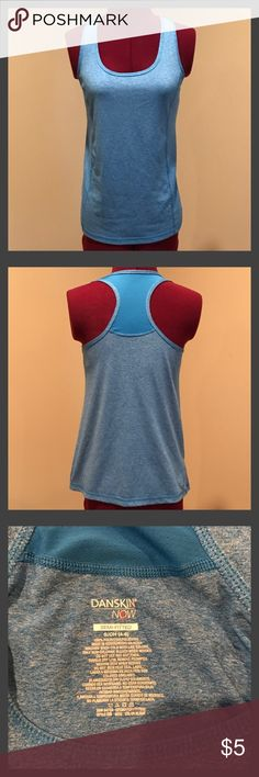 2 Dri-Fit Tank Tops Baby blue and teal danskin workout tank tops. Size small.  Both look brand new. Danskin Tops Tank Tops