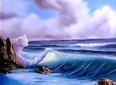 Bob Ross Painting - Surf's Up - I just love to watch Bob Ross paint :)