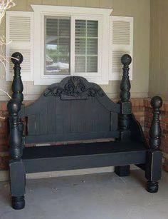 chique bank van oud bed