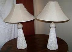 Pair of Stone / Faux Lamps