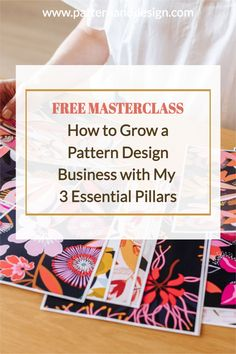 If you have a dream of turning your art into a business then join my Free Masterclass where I'll share the 3 essential pillars for becoming a successful surface pattern designer. Join me and learn a proven, step-by-step formula so you can profit from your natural artistic and creative gifts. Kids Patterns, Floral Patterns, Business Design, Creative Business, Textile Design, Fabric Design, Inspiration For Kids, Signature Design, Surface Pattern Design