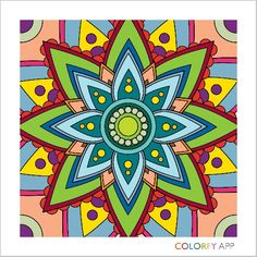 Colorfy App for all Adult Coloring, Coloring Books, Colorfy App, Arte Floral, Poinsettia, My Images, Artsy Fartsy, Street Art, Tapestry