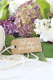 VIBEKE DESIGN: Gled noen med blomster !