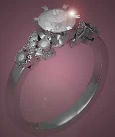 Edwardian Style #EngagementRing #Antique #RoundBrilliantCut # Diamond Edwardian Style, Edwardian Fashion, Designer Engagement Rings, Ring Designs, Crystals, Diamond, Antiques, Jewelry, Antiquities