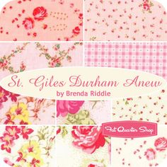 St. Giles Durham Anew Fat Quarter Bundle Brenda Riddle for Lecien Fabrics
