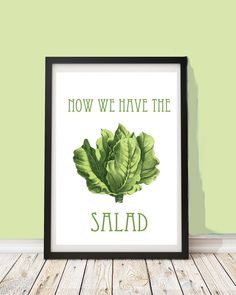 Lustiges Poster, Jetzt haben wir den Salat, Wanddeko, Wandgestaltung / funny art print with quote, wall decoration made by PapierMond via DaWanda.com