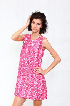Love Swing Dress With Floral Embroidery #Fashion #PinkTag #Pink