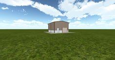 3D #architecture via @themuellerinc http://ift.tt/2hlgO3X #barn #workshop #greenhouse #garage #DIY