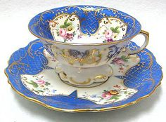 """Mottahedeh"" Blue Tea Cup  Vista Alegre From Portugal"