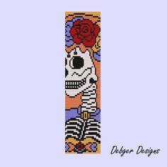 Sugar skull bride - Loom Bracelet Cuff Pattern