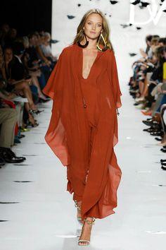 Diane Von Furstenberg 2013, love the oversized earrings too
