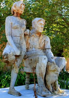 Some of the beautiful wooden statues at Tokara Wine Estate, Stellenbosch - Western Cape - South Africa Pottery Sculpture, Wood Sculpture, Sculptures, Wooden Statues, Oeuvre D'art, Cape Town, Les Oeuvres, Home Art, South Africa