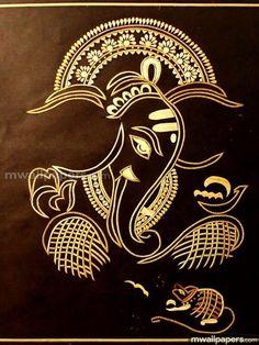 Sri Ganesha Om Gam Ganapataye Namaha Namasté Lord Ganesh More Más Arte Ganesha, Ganesha Drawing, Lord Ganesha Paintings, Sri Ganesh, Mandala, Madhubani Painting, Indian Art Paintings, Hindu Art, Zen Doodle