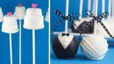 Obsessed with tux and dress cake pops and truffles!