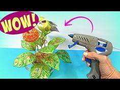 YouTube Glue Gun, Smurfs, Dinosaur Stuffed Animal, Guns, Diy, Crafty, Youtube, Weddings, Silver Glitter