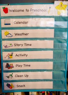 Preschool - getting started  - daily routine/schedule free printable