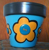 Check out this item in my Etsy shop https://www.etsy.com/listing/225774047/hand-painted-terracotta-pot-super-cute