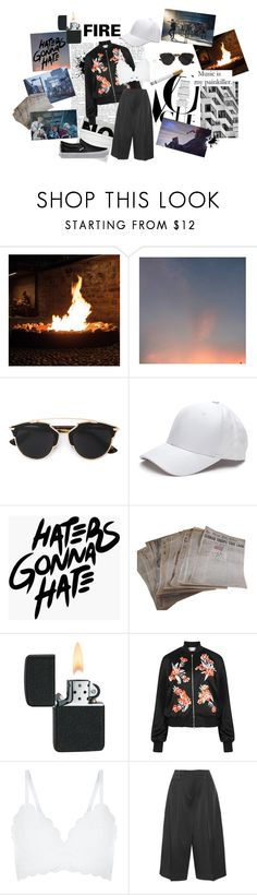 """""""Fire is my painkiller..."""" by polkadots22 ❤ liked on Polyvore featuring Christian Dior, C.R.A.F.T., Jonathan Saunders, New Look, Joseph, Vans, Fire and bts"""