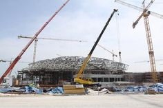 Work on the upcoming Louvre Abu Dhabi has progressed, with construction of the mammoth US$653m (€512.9m, £404.6m) structure's dome roof now complete.