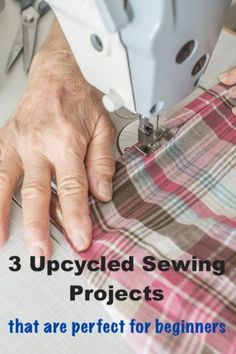 Sewing Top 3 Upcycled Sewing Projects That Are Great For Beginners:For those of you who aren't familiar with upcycling, it's simply the process of reusing old things to make better new things. Upcycling is great, especially if you're new to sewing. Sewing Basics, Sewing Hacks, Sewing Tutorials, Sewing Ideas, Sewing Tips, Sewing Crafts, Upcycled Crafts, Upcycled Clothing, Love Sewing