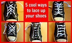 5 ways to lace up shoes on Kidspot