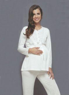 Marilyn 1761 ebruli hamile pijama takım